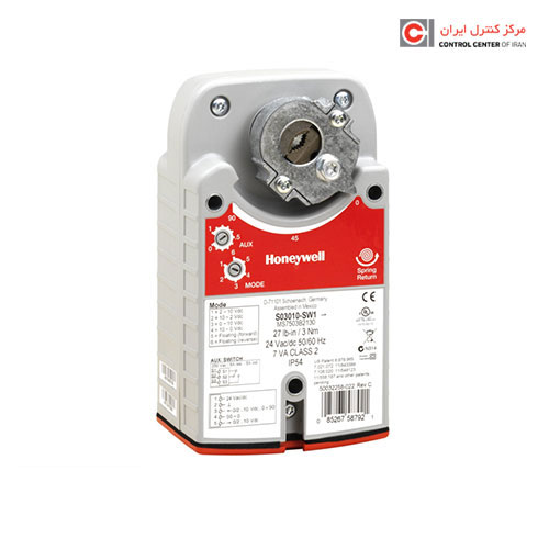 محرک الکتریکی دمپر هانیول مدل S05010-SW1
