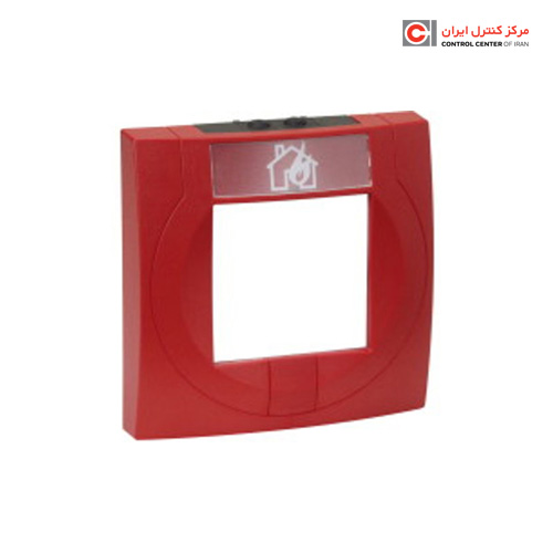 محفظه شستی اعلام حریق قرمز رنگ با المان شکننده شیشه ای اسر مدل 704900