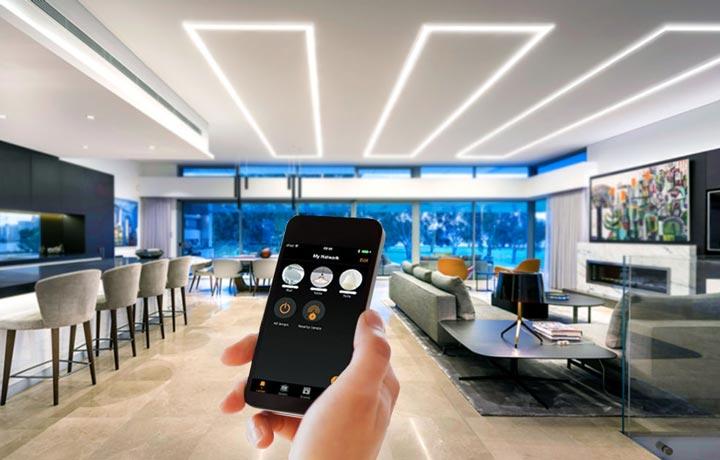 سیستم کنترل روشنایی هوشمند